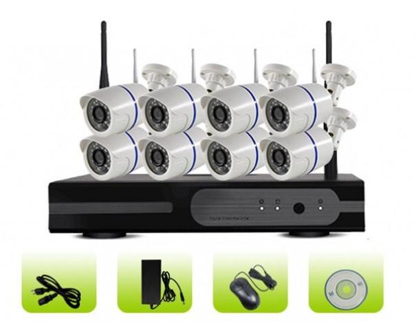 SK08W-10PN 8ch Plastic Housing Waterproof Bullet Poe Ip Network Security Camera Kit