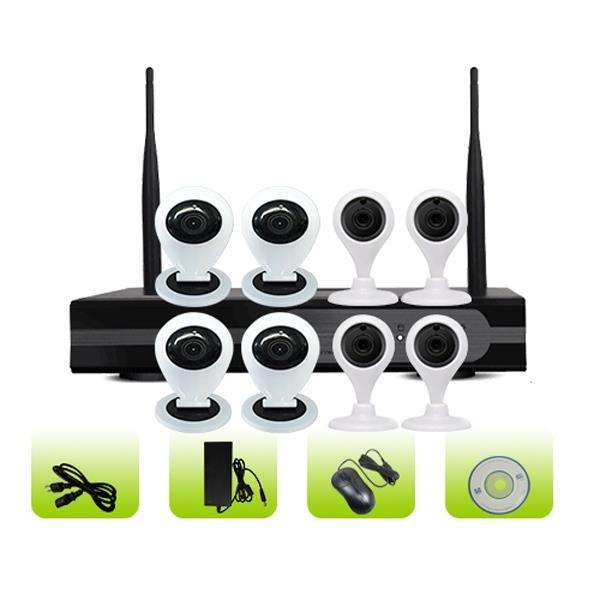 SK08W-10CM Remote View Hd Video 8 Channel P2P Cloud Smart Home Mini Camera System